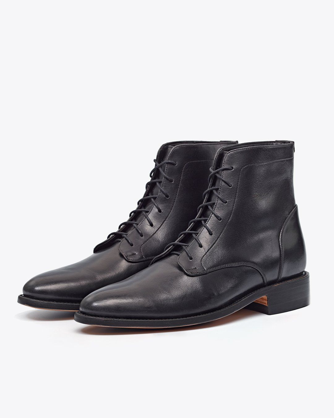 Luciano Boot Black/Black Men's Leather Boot Nisolo