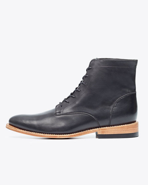 Luciano Boot Black Men's Leather Boot Nisolo