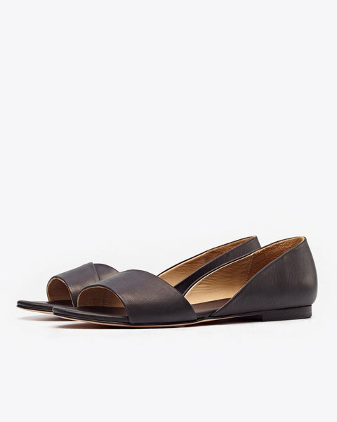 Mia Peeptoe Ballerina Black | FINAL SALE