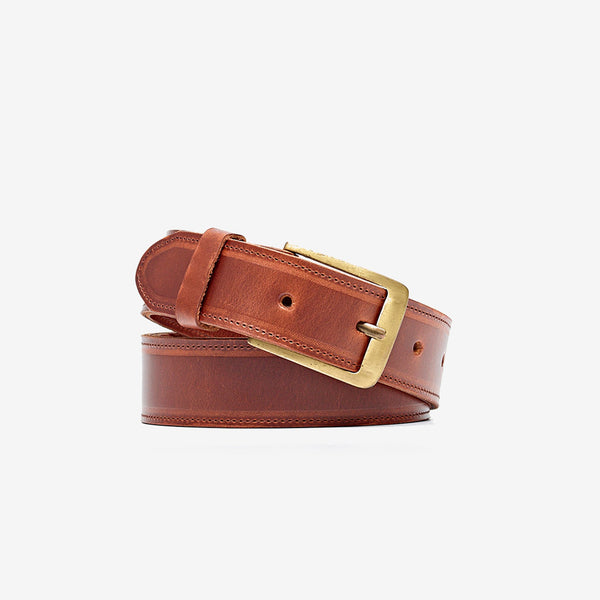 Owen Belt Brandy Leather Belt Nisolo