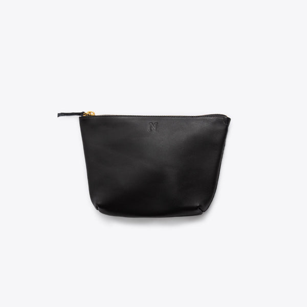 Rosa Pouch Black Leather Clutch Nisolo
