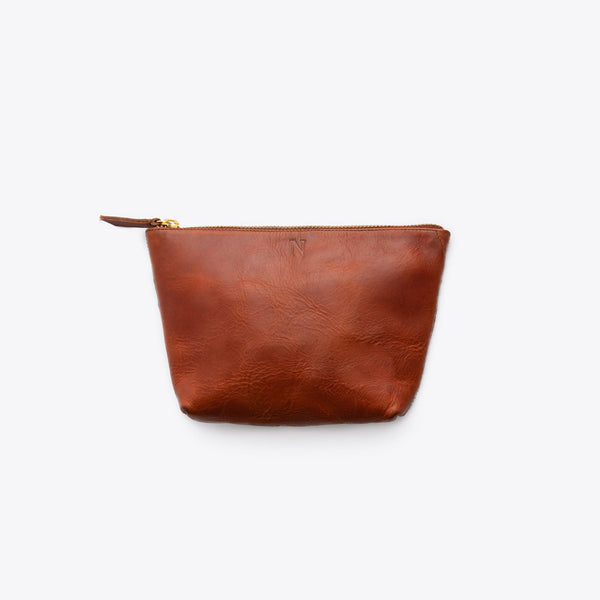 Rosa Pouch Rosewood Leather Clutch Nisolo