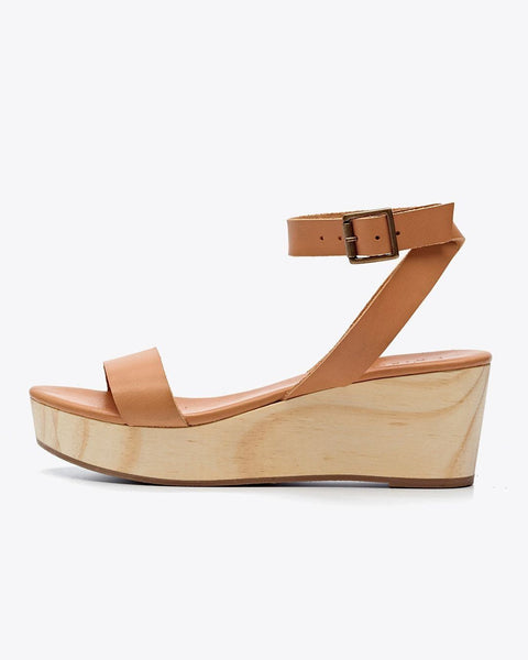Sarita Wedge Sandal Tan