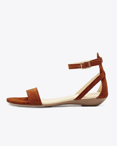 Serena Sandal Nutmeg Women's Leather Sandal Nisolo