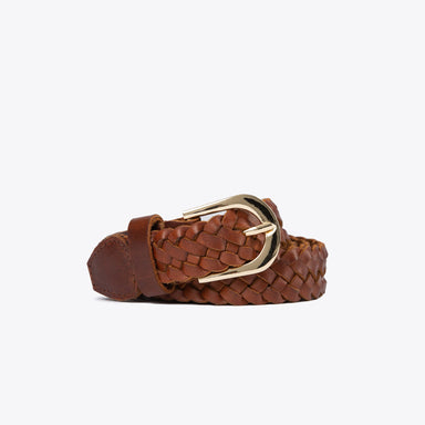 Nisolo - Talia Braided Belt Brandy