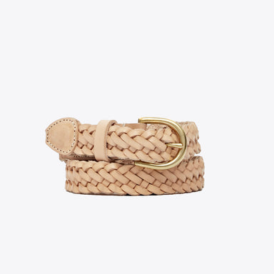 Nisolo - Talia Braided Belt Natural Vachetta