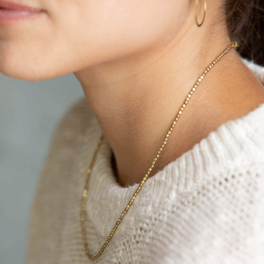 Nisolo - Tiny Brass Bead Choker Necklace