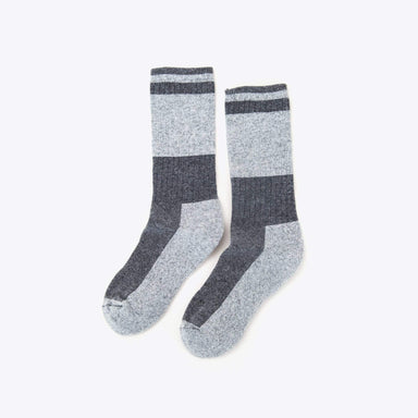 Nisolo - Wool Crew Sock Charcoal/Grey