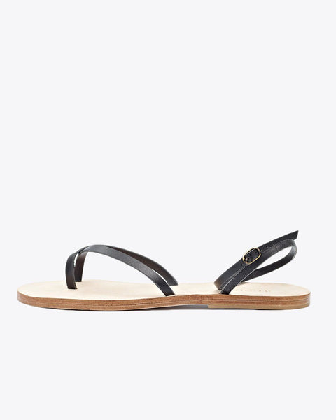 Cora Wrap Sandal Black