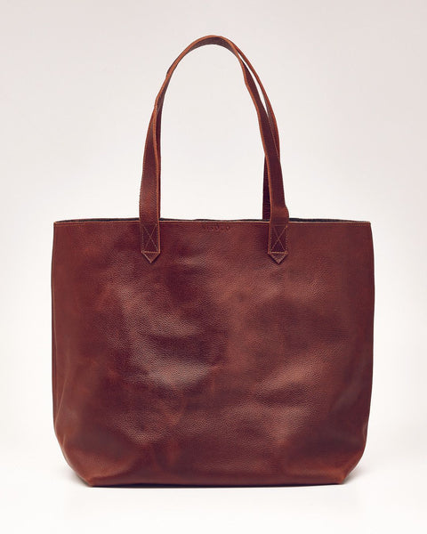 JoAnne Tote Brandy with Grey | Leather Handmade Bag | Nisolo
