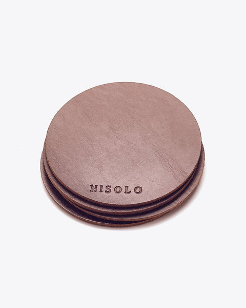 Leather Coasters Set of 4