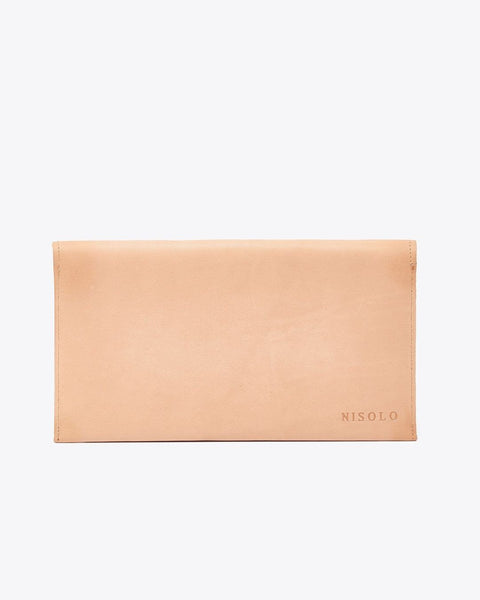 Luisa Leather Clutch Camel