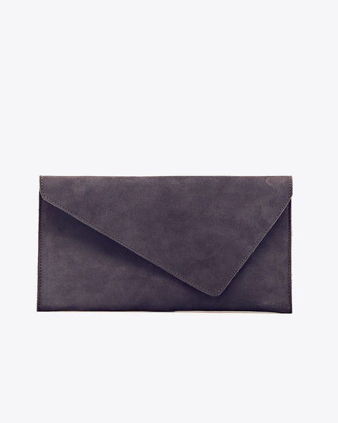 Luisa Leather Clutch Indigo