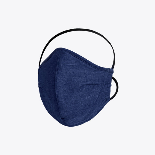 Everyday Filtered Mask - Navy Linen Masks Proper Cloth