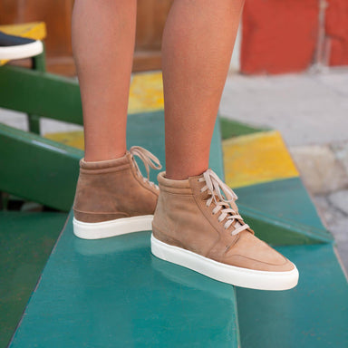 Nisolo - Reina High Top Sneaker Tobacco