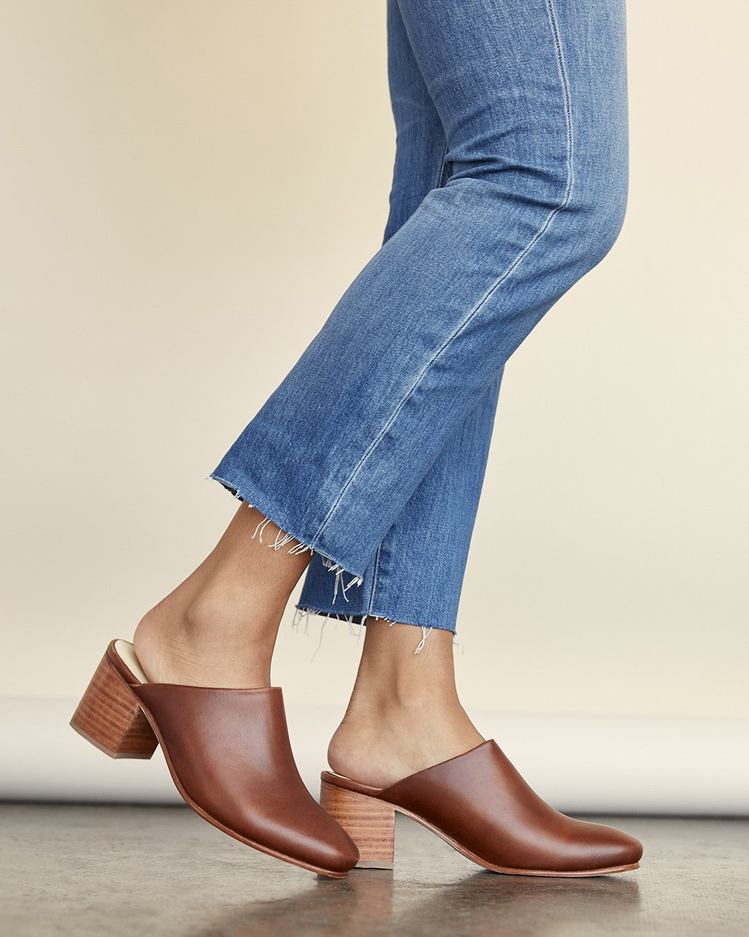 Nisolo women's Paloma Mule in brandy   Ethically Made