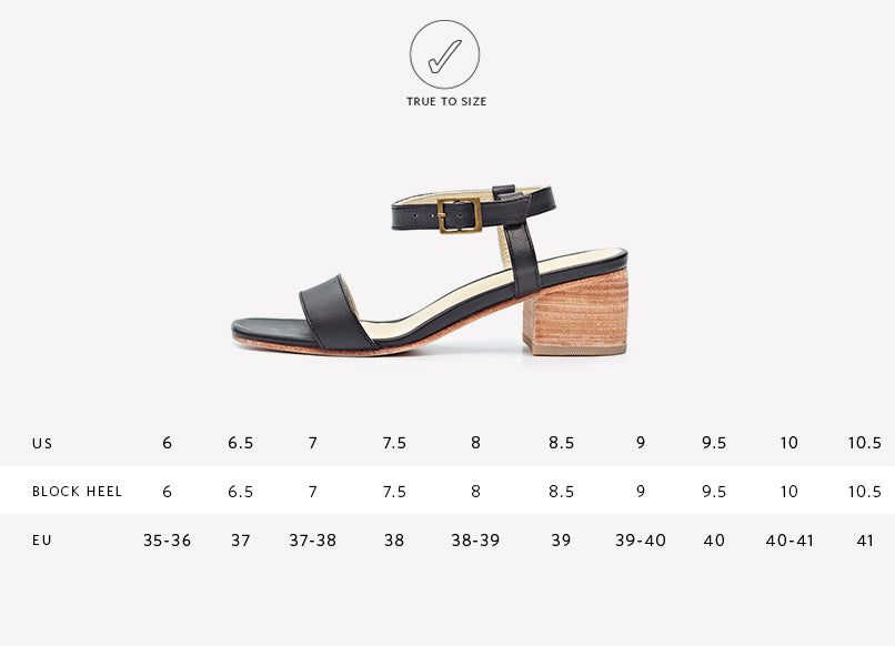 Nisolo Women's Lucia Block Heel Sandal Black | Ethically Handcrafted Shoes
