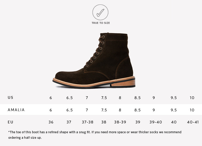 Nisolo Women's Amalia All Weather Boot in dark olive | Sizing Guide | True to Size