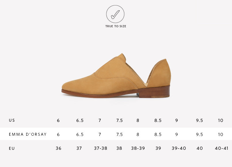 Women's Nisolo Emma d'Orsay Oxford Sand Sizing