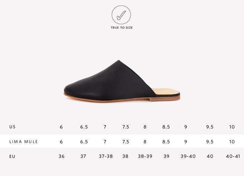 Lima Slip On Sizing Guide