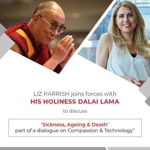 Liz parrish joins forces with his holiness the dalai lama to discuss 'sickness, aging & death' – Part of a dialogue on compassion & technology