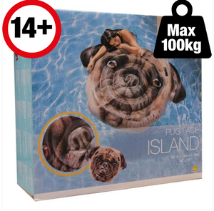Intex Inflatable Pug Face Island - The Swimming Pool Shop