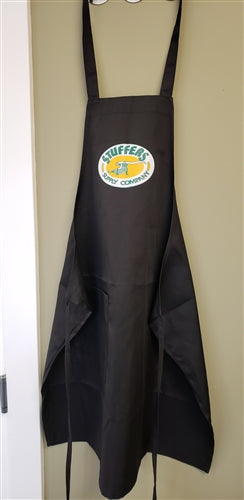 STUFFERS LOGO POLY-COTTON BIB APRON BLACK 27.5