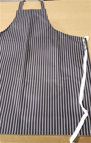 APRONS STRIPED (BLACK)