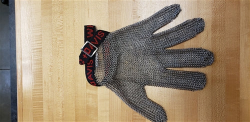 M/MESH GLOVE W/BAND RED/BLACK