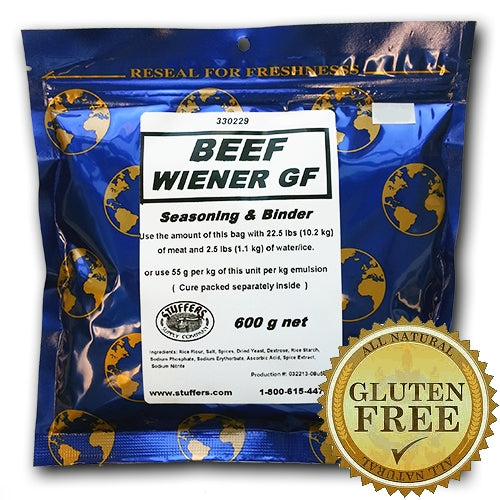 Stuffers Beef Wiener Seasoning & Binder Gluten Free 600g