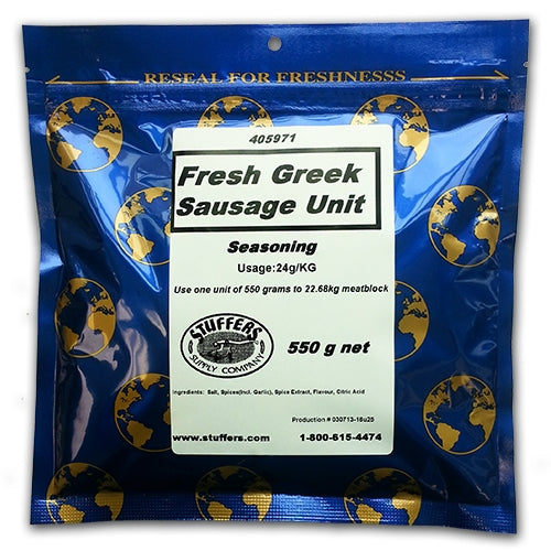 Stuffers Greek Fresh Sausage Seasoning 550g