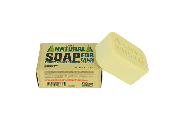 Soap for Men Vetiver - Sams Natural (6)