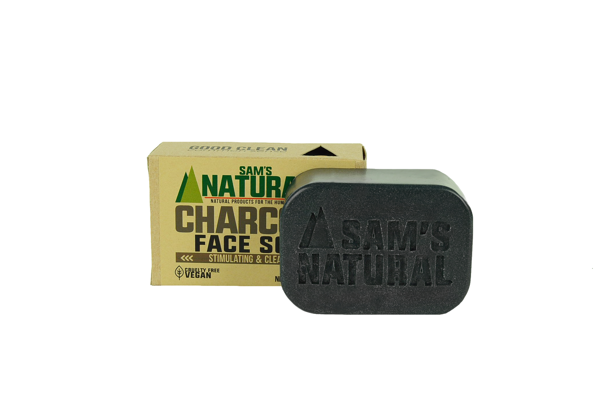 Charcoal Face Soap - Sams Natural (12)