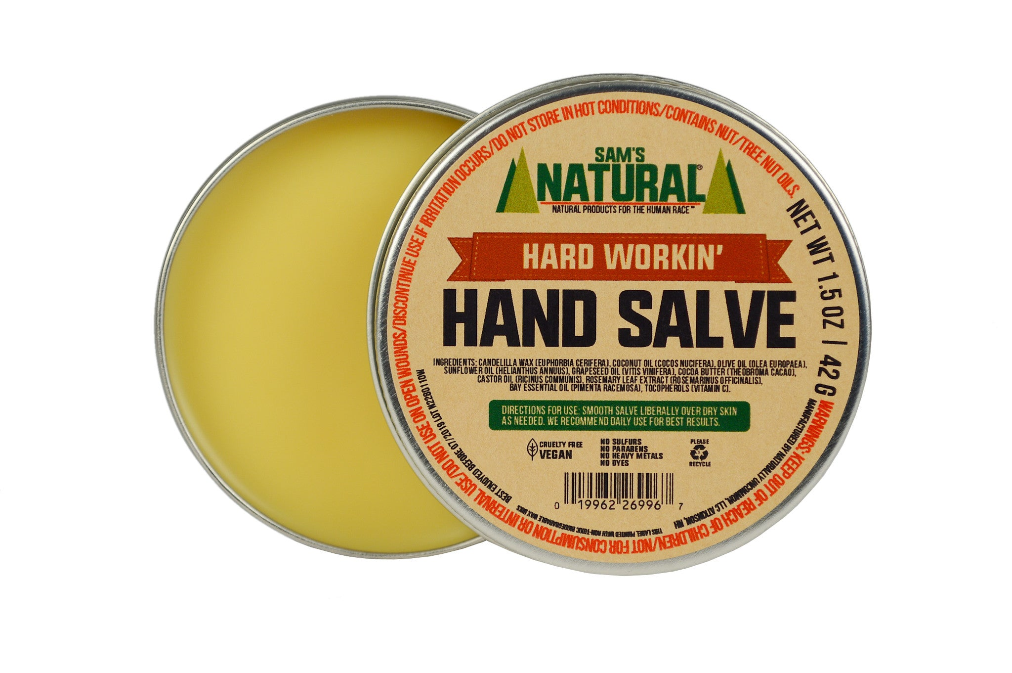 Hard Workin' Hand Salve - Sams Natural (6)
