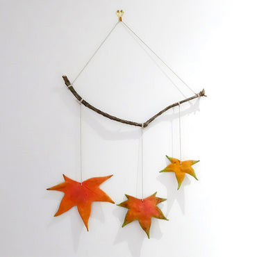 Autumn Leaves Wall Hanging - Kids Craft Ideas