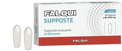 SUPPOSTE FALQUI 18 SUPPOSTE CON GLICERINA 2500MG ADULTI