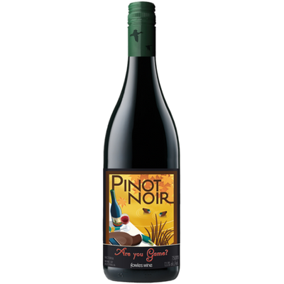 Bottle of Pinot Noir red wine from Australia