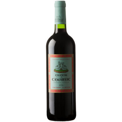 Bottle of Merlot Cabernet Sauvignon red wine from Bordeaux France