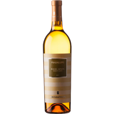 Bottle of Arneis white wine from Piemonte Italy