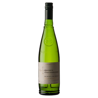 Bottle of Picpoul de Pinet white wine from France