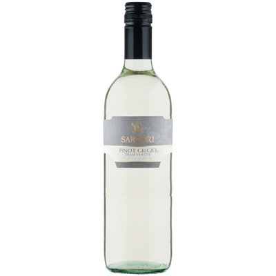 Bottle of Pinot Grigio white wine from Italy