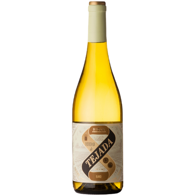 Bottle of white rioja wine from Spain
