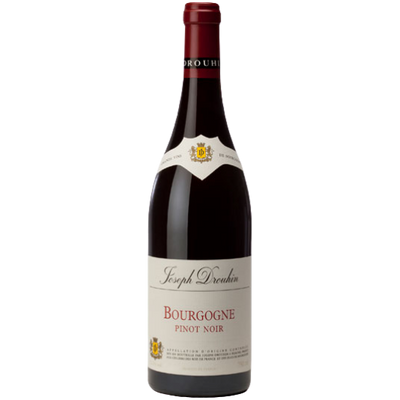 Bottle of Pinot Noir red wine from Burgundy France