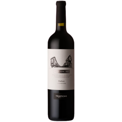 Bottle of Malbec red wine from Mendoza Argentina