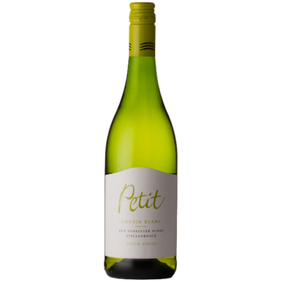 Bottle of Chenin Blanc white wine from South Africa