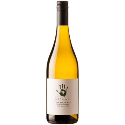Bottle of Organic Chardonnay white wine from Marlborough New Zealand