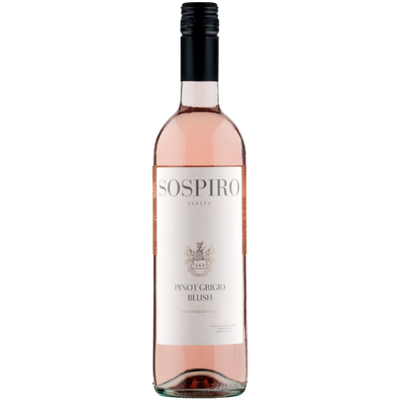 Bottle of Pinot Grigio blush rose wine from Italy