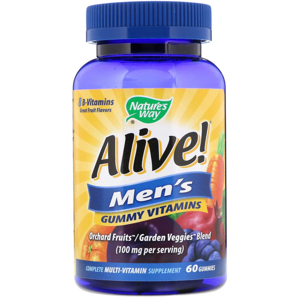 Nature's Way, Alive! Men's Gummy Vitamins, Fruit Flavors, 60 Gummies