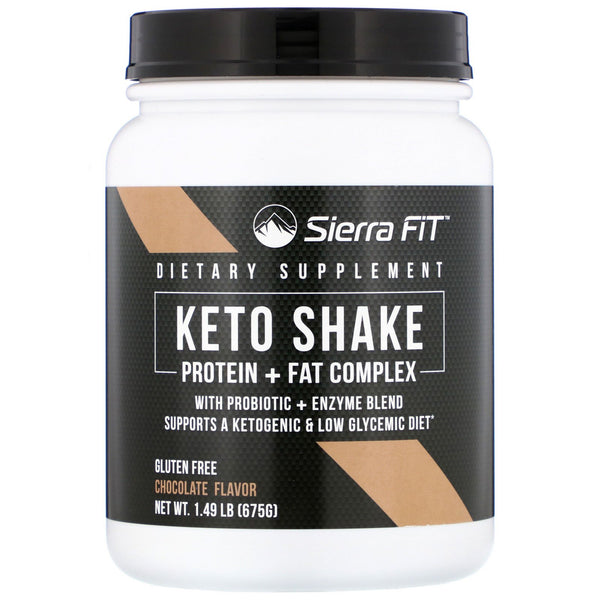 Sierra Fit, Keto Shake, Chocolate, 1.49 lbs (675 g)