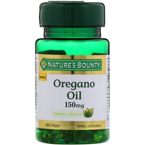 Nature's Bounty, Oregano Oil, 150 mg, 90 Softgels